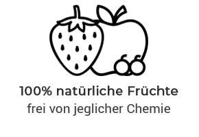 100% natürliche Früchte
